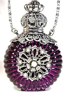 Purple Perfume Bottles | Purple Perfume Bottle Pendant Necklace