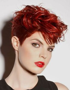 A favorite cut for sure short closely cut layers sides and back. Just enough to play with on top