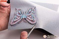 Брошь из бисера «Бабочка» - | Леонардо хобби-гипермаркет - сделай своими руками