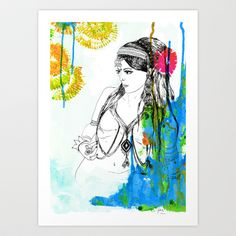Tribal Beauty 6 Art Print by Katya Zorin - $16.99