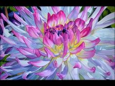 Watercolor painting - Chrysanthemum - YouTube