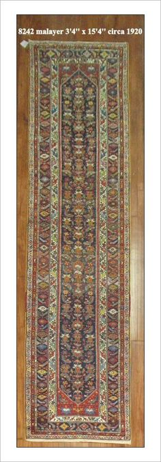 "Malayer Rug Number: 8242 Size: 3'4"" x 15'4""    Rugs R Us Online, A Division of J&D Oriental Rugs Co."