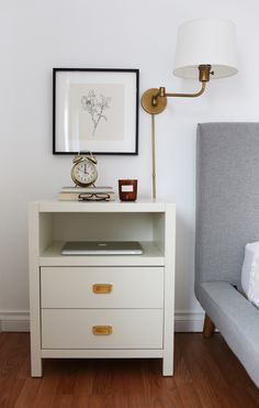 Our Master Bedroom + West Coast Style Wood Bedroom, Master Bedroom, Side Tables Bedroom, Coast Style, White Nightstand, Bedroom Night Stands, Bedroom Layouts, Home Decor Accessories, West Coast