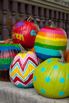 painting your pumpkins instead of carving them? CLEVER!