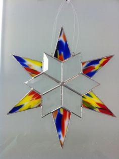 "10"" Beveled Glass Snowflake"