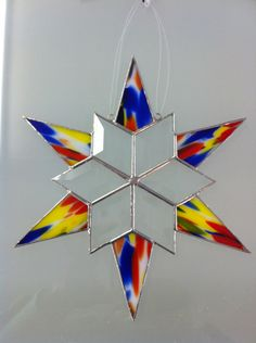 "10"" Beveled Glass Snowflake"