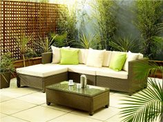 RATTAN GARDEN FURNITURE SOFA SET MODULAR TABLE CHAIRS OUTDOOR INDOOR PATIO | eBay