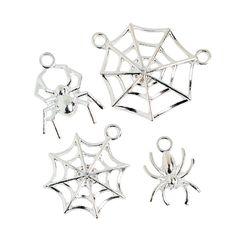 Spider & Spiderweb Charms - OrientalTrading.com