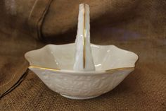 Lenox China Basket by OneReDunn on Etsy, $65.99