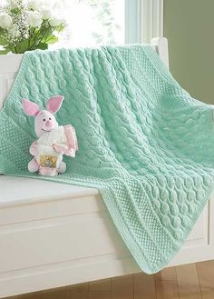 Knitting Pattern for Little Blossoms Baby Blanket - #ad Love the lace and texture sections. One of 9 patterns in Dreamy Baby Wraps | See more pics at LeisureArts.com tba