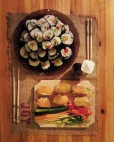 We made sushi for dinner @verbofart @barnabbe <3 #homemade #sushi #yummy #delicious #food #foodie #foodlove #asian #healthy #salmon #avocado #veggies #soysauce #chopsticks #love #marriedlife #bliss #joy #happiness #dinner #eating #home #budapest #hungary #europe #barnabbe <3 http://bit.ly/dtskyiv #ywamkyiv #ywam #mission #missiontrip #outreach