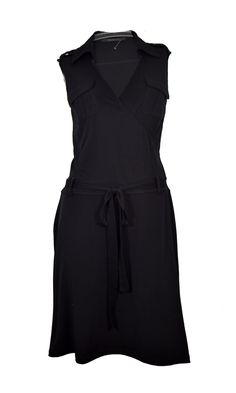 a482c6b1f239 CAROLL ♥ ROBE NOIRE FACON PORTEFEUILLE T. 40 via LES COCOTTES. Click on the  image to see more!