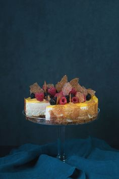 Lemon Cheesecake w Fresh Berries   Hungry Rabbit
