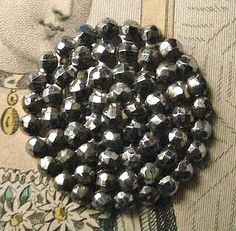Antique button cut steel  4 radiating rows of by TheLadyatSkiers, £5.00