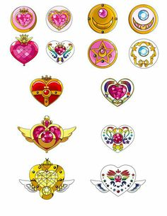 Sailor Moon and Sailor Chibi Moon Prism Sailor Moon Tattoos, Sailor Moons, Sailor Chibi Moon, Arte Sailor Moon, Sailor Moon Brooch, Sailor Moon Locket, Ashita No Nadja, Les Lolirock, Sailor Saturno