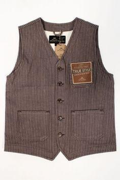 Pike Brothers 1937 Roamer Vest Brown Wabash : SUNSETSTAR Vintage Inspired Dresses, Vintage Outfits, Casual Blazer, Men Casual, Rugged Style, Rockabilly, Western Outfits, Vest Men, Spring Summer Fashion