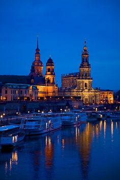 Dresden, Germany and the Elbe River