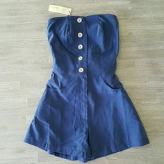 Button Detail Romper w/ Pockets Very nice and in excellent condition Sugarlips Other