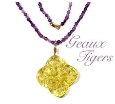 #geauxtigers #purple #gold #jewelry #necklace #win