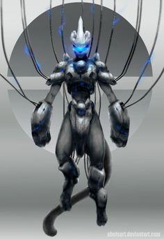 Mewtwo(Armored) by Abelsart.deviantart.com on @deviantART
