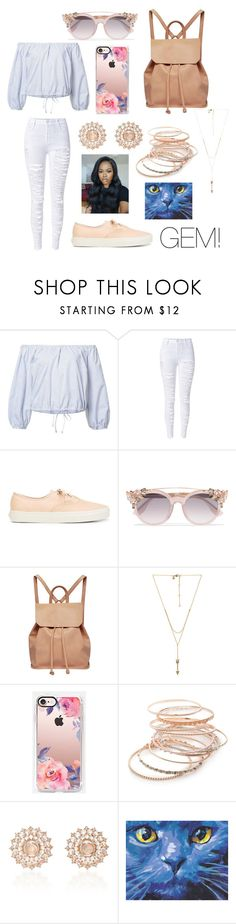 """summer blues!👑🌍"" by sanaagemini0503 ❤ liked on Polyvore featuring Sea, New York, WithChic, Vans, Jimmy Choo, Urban Originals, Rebecca Minkoff, Casetify, Red Camel and Nam Cho"