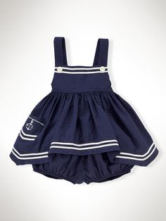Nautical Seersucker Set - Sets Infant Girl