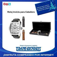 Elegancia y porte para caballero, Reloj Invicta. TransExpress compras en internet en El Salvador. Costo aprox $93.95 http://amzn.com/B00962H1EQ
