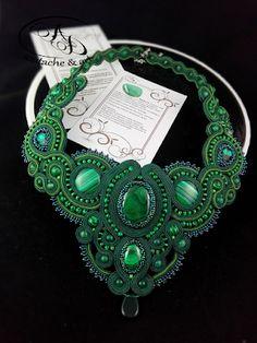 Zielono mi... Naszyjnik z malachitami Elven Queen - AD soutache&art