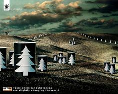 The Print Ad titled TREES was done by Saatchi & Saatchi Milan advertising agency for product: Detox Campaign (brand: WWF) in Italy. It was released in the Nov 2004.