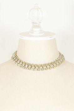 60's Lisner Diamond Swirl Necklace by AAI