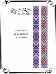 Loom pattern Ethnic style I. LOOM bracelet par KikisBeadArts