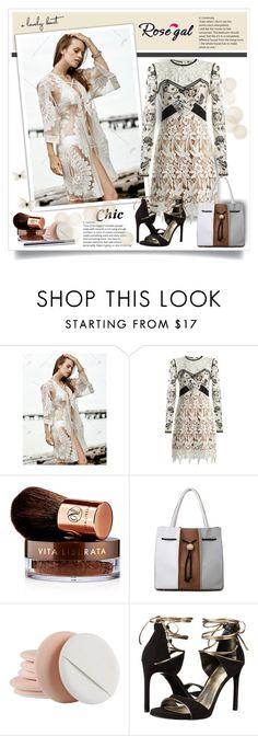 """""""Rose¤gal4"""" by sneky ❤ liked on Polyvore featuring self-portrait, Vita Liberata and Stuart Weitzman"""