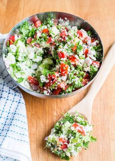 Cauliflower Rice Tabbouleh Salad | 23 Insanely Clever Ways To Eat Cauliflower Instead of Carbs