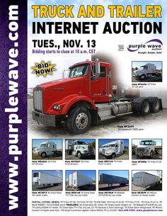 Truck and Trailer Auction  November 13, 2012  http://purplewave.co/121113