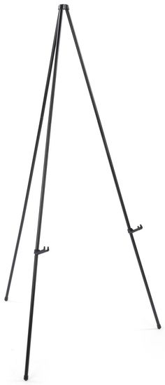 Display Easel For Floor, Standard Tripod Design, Collapsible - Black