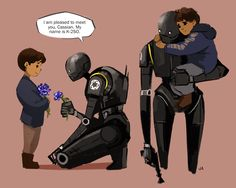 I've been in this fight since I was six years old. what if K2 defected on his own after he met a little boy named Cassian