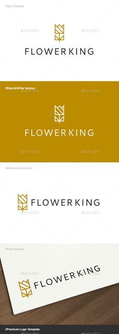 Flower King Logo  — EPS Template #kingdom #hotel • Download ➝ https://graphicriver.net/item/flower-king-logo/18145164?ref=pxcr