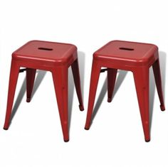 2 pcs Red Stackable Small Metal Stool Kitchen Bar Restaurant Diner Breakfast  Make the Best this Fantastic Gift. At Luxury Home Brands WE always Find Great Stuff for you :)