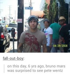 "Must be before billionaire came out XDD<<< Must have been. For those of you who don't know Pete was in the ""Billionaire"" music video."