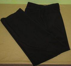 Men's FOOTJOY  Flat Front Golf  Pants Sz 32 x 34 - Black  #FootJoy #DressFlatFront