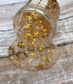 Gold Slime 2 oz. 50 g. Clear Slime Glitter Slime Jiggly