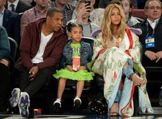 Jay Z, Blue Ivy Carter, & Beyonce Knowles #FansnStars