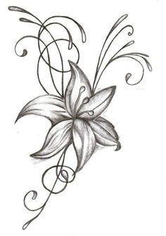 Pics For > Black And White Tiger Lily Tattoo
