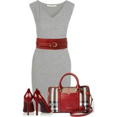 Classy dress, accessories & shoes,  love!                                                                                                                                                     Más