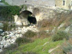 Puente visto desde el camino real.