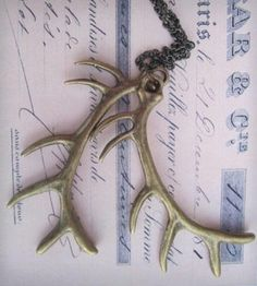 Brass Antler Necklace by Charms City Company on Scoutmob Shoppe