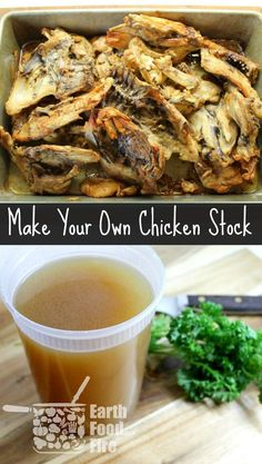 A staple in all professional kitchens, chicken stock is a chefs worst kept secret. This easy chicken stock recipe is perfect for soups, sauces and reduces food waste. A must have for any Paleo Diet and full of healthy goodies! via @earthfoodfire