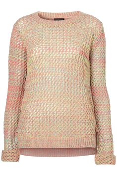 knitted fluro mesh sweater / topshop