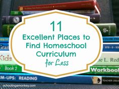 11 Excellent Places to Find Homeschool Curriculum for Less (Plus a $130 Cash Giveaway!) ~ Schooling a Monkey