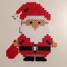 Santa Christmas perler beads by jplas.f.uah